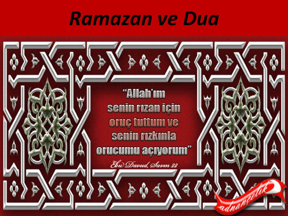 Ramazan ve Dua