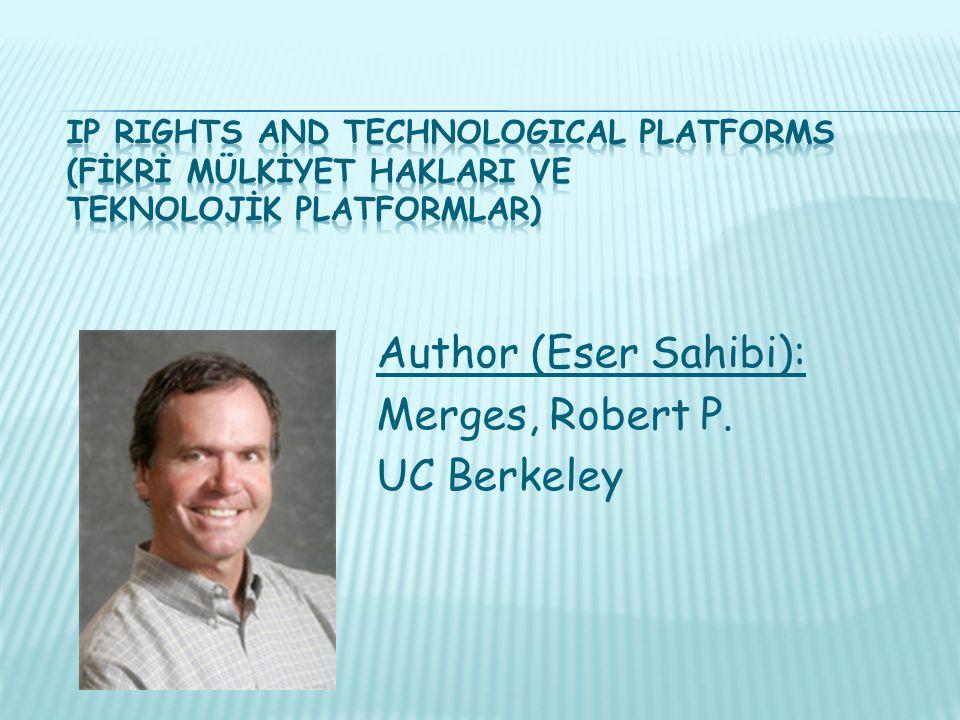 Author (Eser Sahibi): Merges, Robert P. UC Berkeley