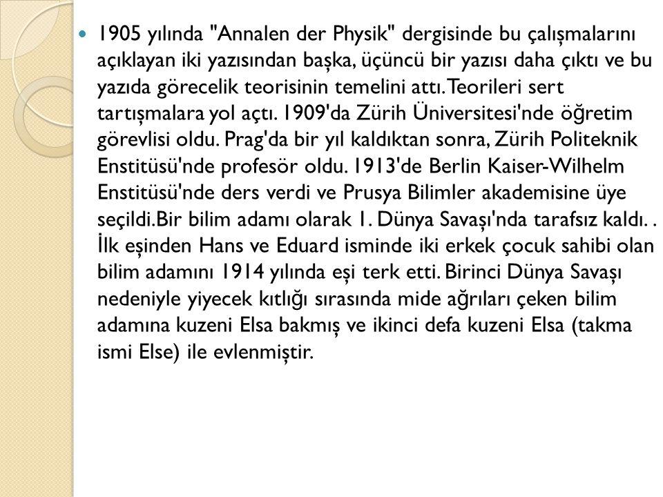 Einstein a Amerikan yurttaşlı ğ ı belgesi verilirken yabancı ülkelere birçok gezi yapmakla birlikte 1933 e kadar Berlin de yaşadı.