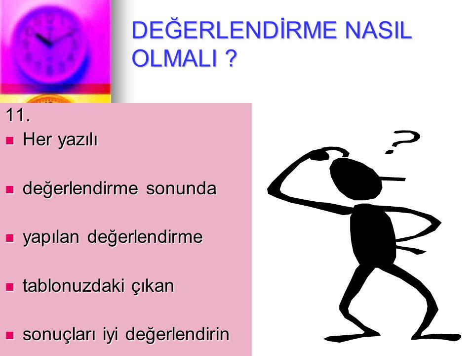 BAŞARINIZA SİZ DE İNANIN 10. 