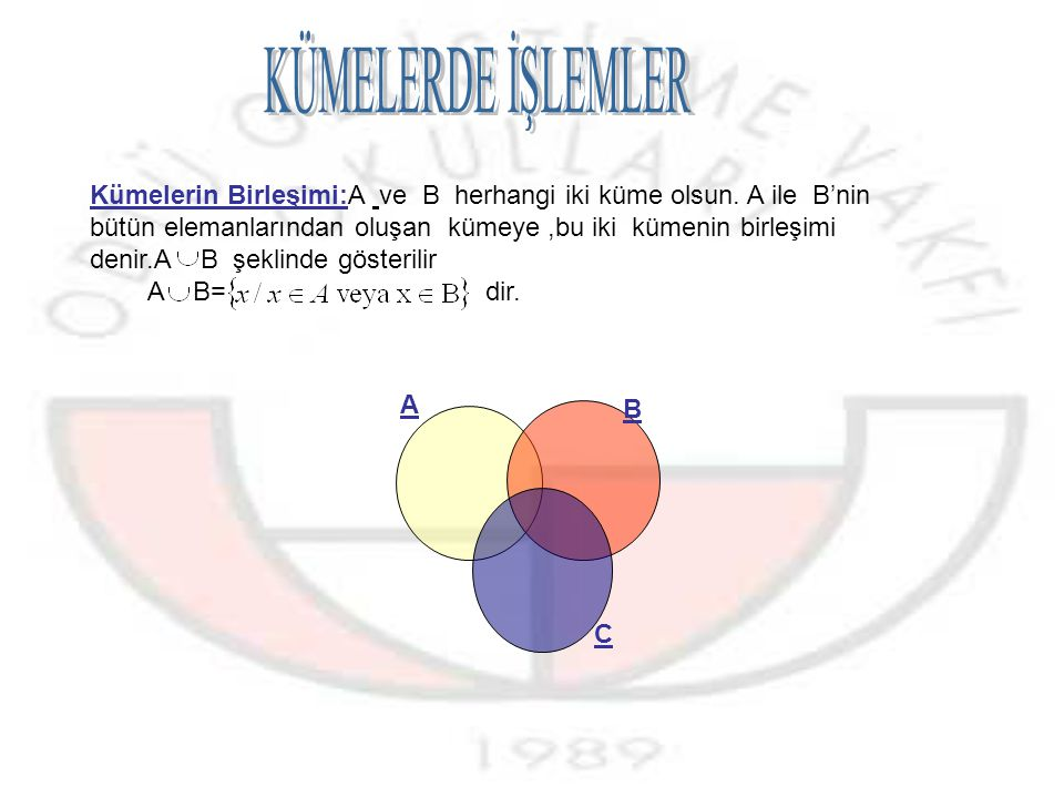 Örnek:A= {1, 2, 3,4,5,6} kümesinin en az 5 elemanlı alt kümelerinin sayısını bulalım.