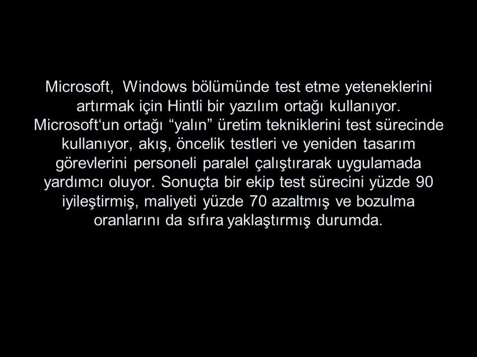 """Microsoft, Windows bölümünde test etme yeteneklerini artırmak için Hintli bir yazılım ortağı kullanıyor. Microsoft'un ortağı """"yalın"""" üretim teknikleri"""