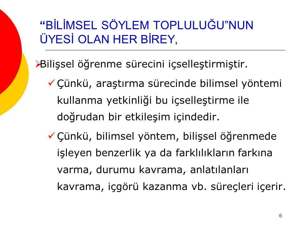 BİLİMSEL SÖYLEM VE ÖZELLİKLERİ 1.