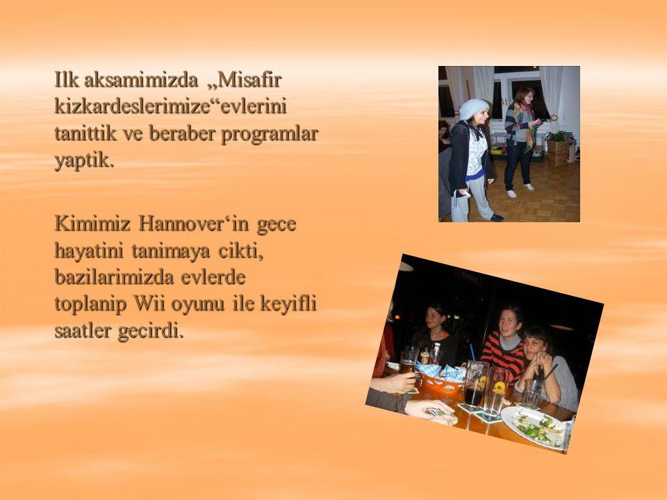 Bizler Pazartesinden Persembeye kadar derslerimize devam ederken, misafirlerimizin de cok dolu bir programi vardi.