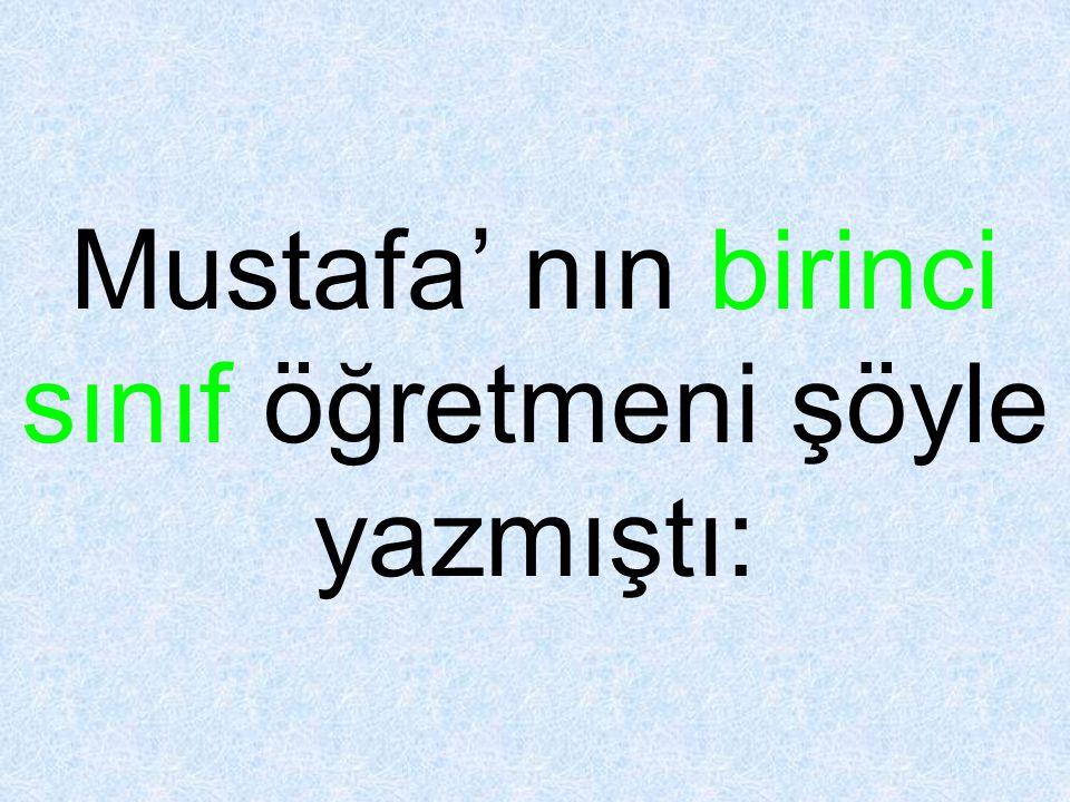 Mustafa' nın hediyesi bir marketten aldığı kalın, kahverengi ambalaj kağıdı ile beceriksizce sarılmıştı.