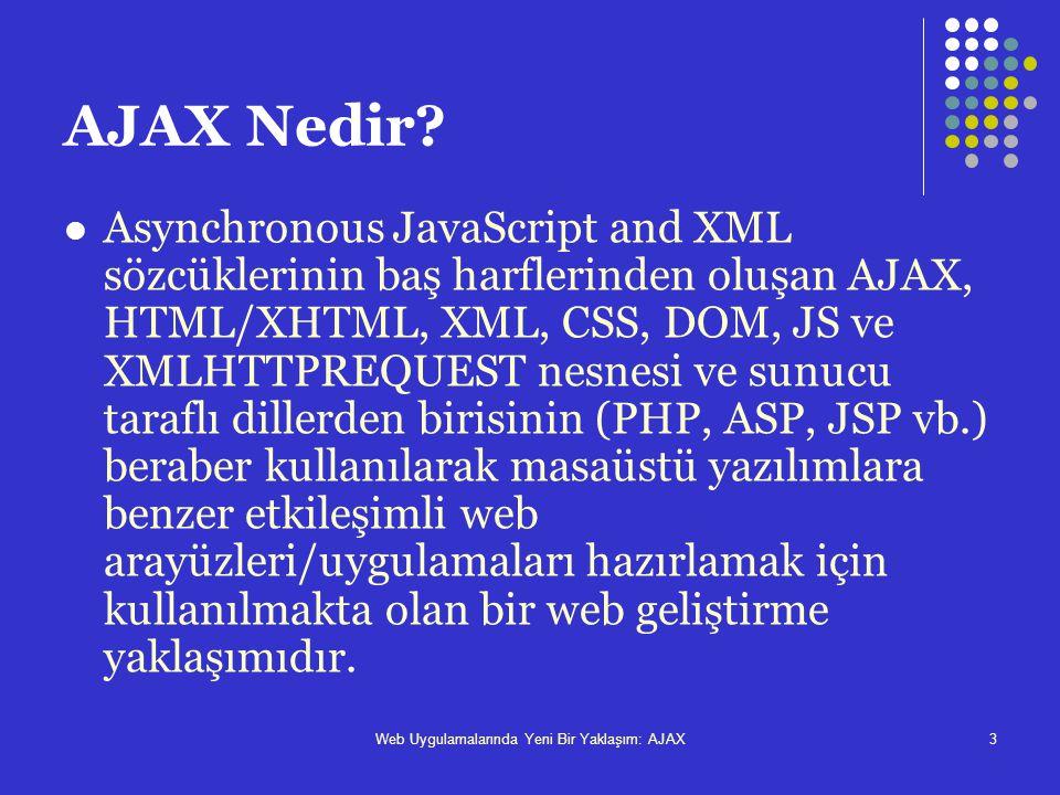 Web uygulamalarında yeni bir yaklaşım ajax2 içindekiler ajax