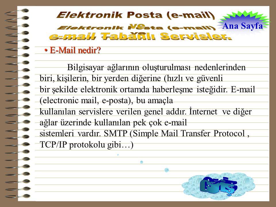 • E-Mail nedir.
