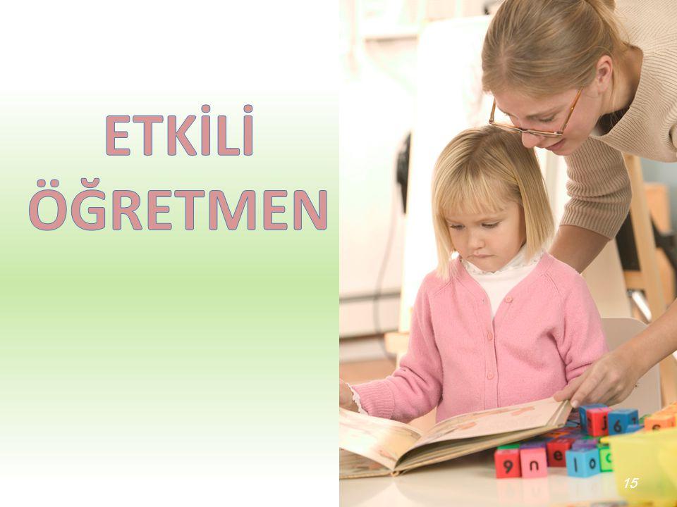 ÖĞRETMEN BireyselÇevreselGenel 14 • Kişilik Özellikleri • Karakter • Hedefler • Aile • Okul İlk/Orta/Lise • Sosyal Çevre • Fiziki Şartlar • Ekonomik y
