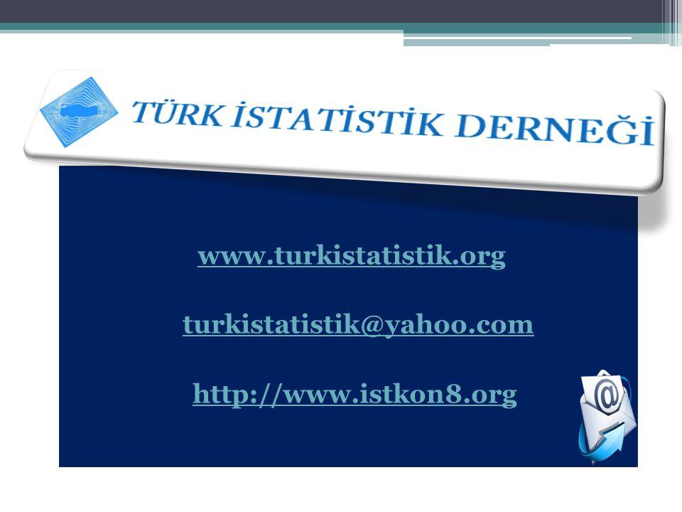 www.turkistatistik.org turkistatistik@yahoo.com gre web: http://www.istkon8.org