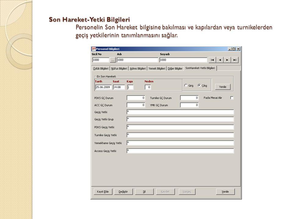 Excel'den Personel Transferi Bir kurala göre hazırlanmış Excel dosyasından programa personel bilgisi aktarılmasını sa ğ lar.