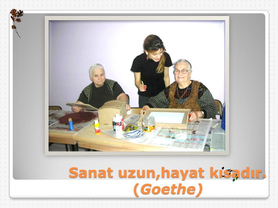 Sanat uzun,hayat kısadır. (Goethe)