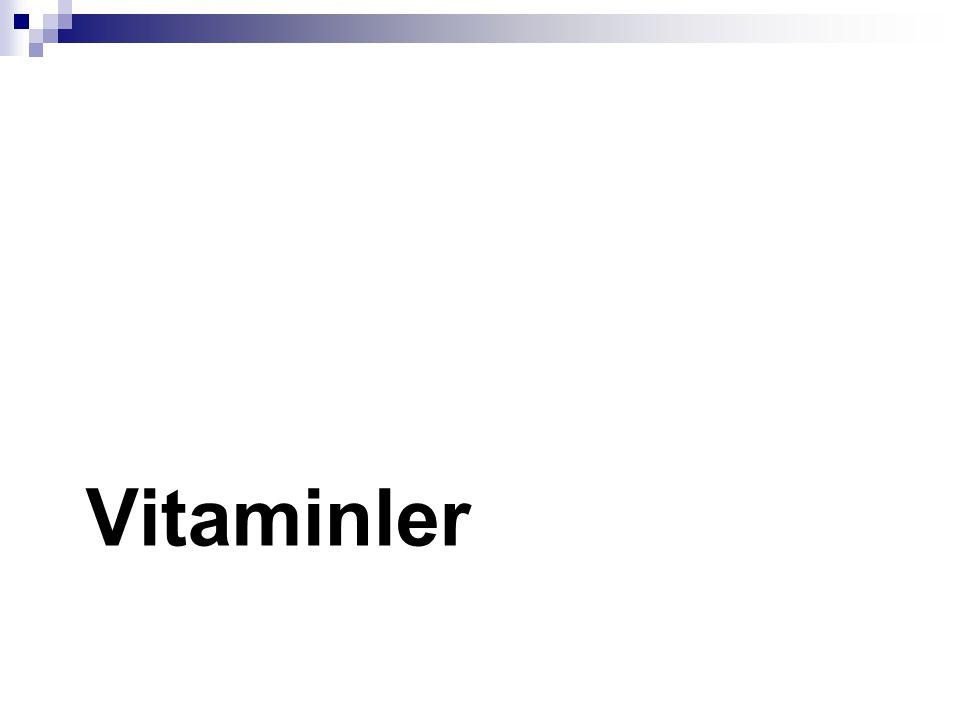 Vitamin  Vücudta sentezlenemeyen ve dışardan alınması zorunlu olan organik moleküllerdir.