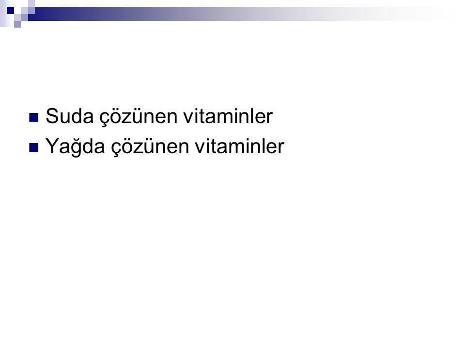 Suda Çözünen Vitaminler 1.Tiamin (B1) 2. Riboflavin (B2) 3.