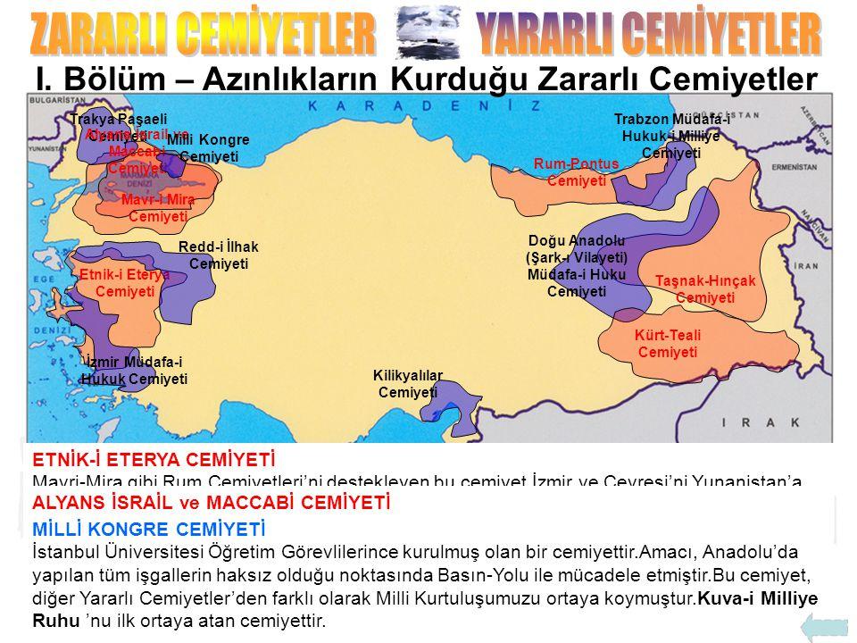 İSLAM-TEALİ CEMİYETİ İstanbul'daki Medrese Hocaları tarafından kurulmuş bu cemiyet,Osmanlı'nın Kurtuluşu'nu DİNİ KURALLARA ve HALİFELİĞE-HİLAFETE BAĞLI KALMAKTA GÖREN bir cemiyettir.