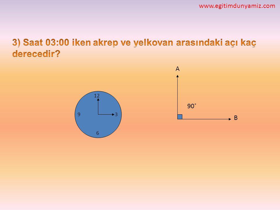 12 3 6 9 A B 90˚ www.egitimdunyamiz.com