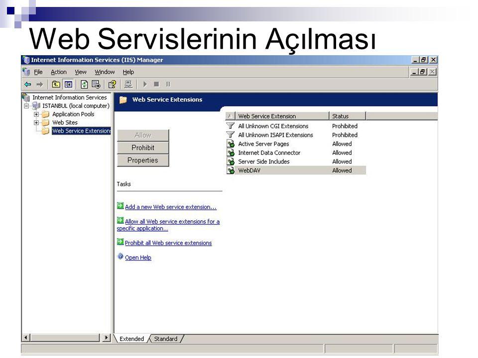 Web Servislerinin Açılması