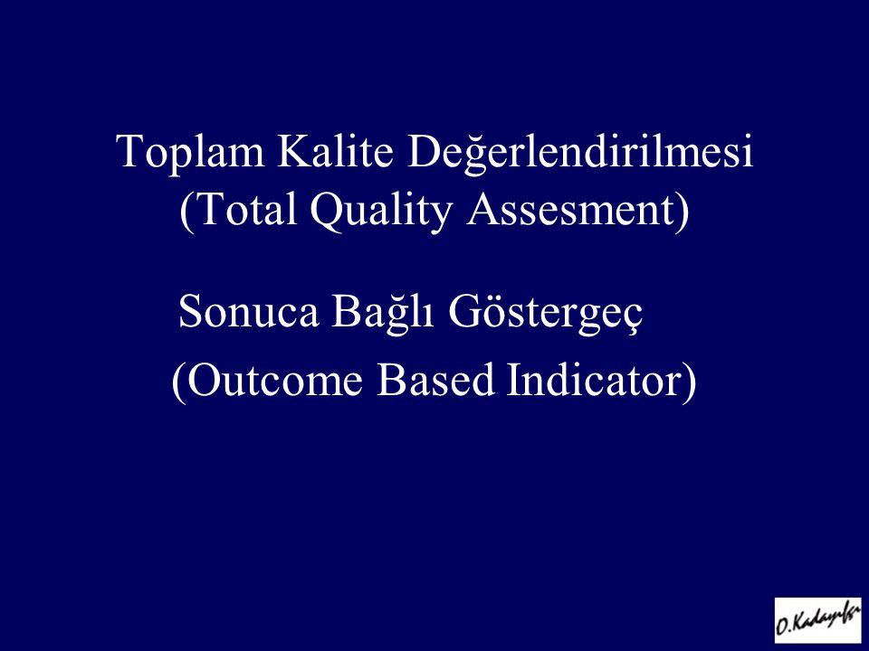 Sonuca Bağlı Göstergeç (Outcome Based Indicator) Toplam Kalite Değerlendirilmesi (Total Quality Assesment)