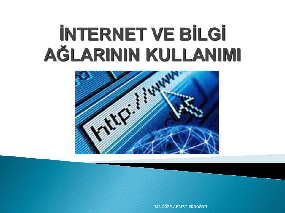 İnternet, birçok bilgisayar sisteminin birbirine bağlı olduğu, dünya çapında yaygın olan ve sürekli büyüyen bir iletişim ağıdır.