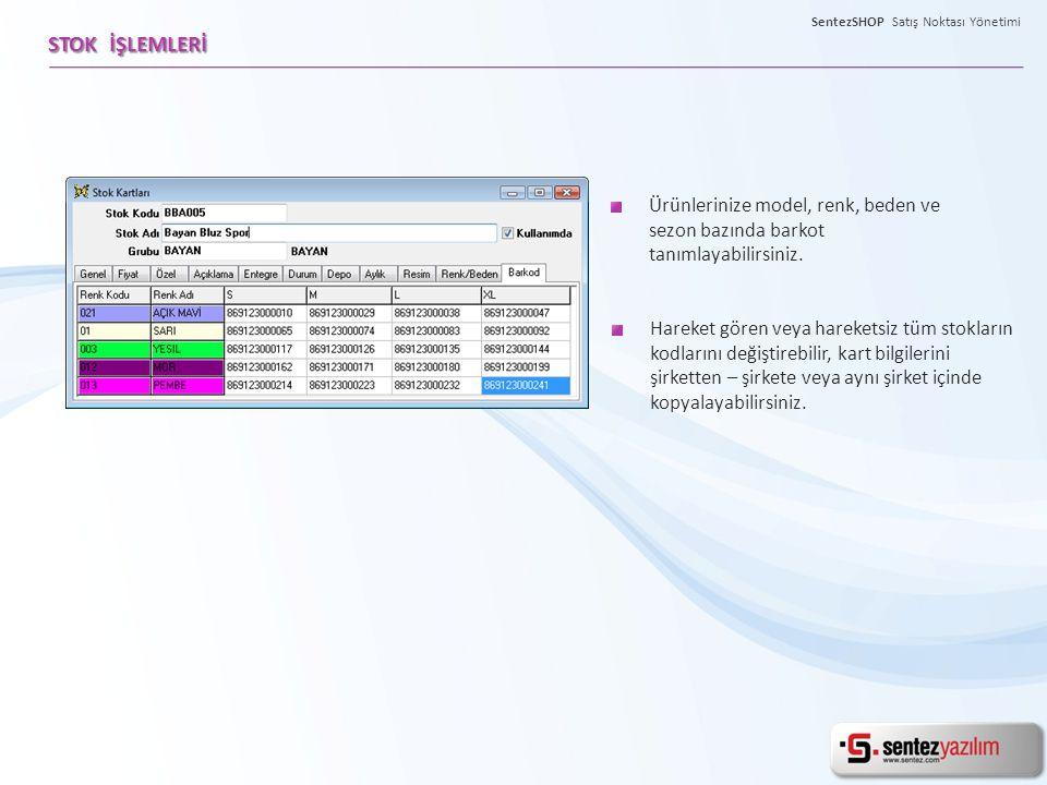 Sayım işlemlerini kolaylıkla yapabilir, sayım işlemleri sırasında çıkan eksik yada fazla ürünleri, ekran üzerinde farklı renklerde pratik bir şekilde takip edebilirsiniz.
