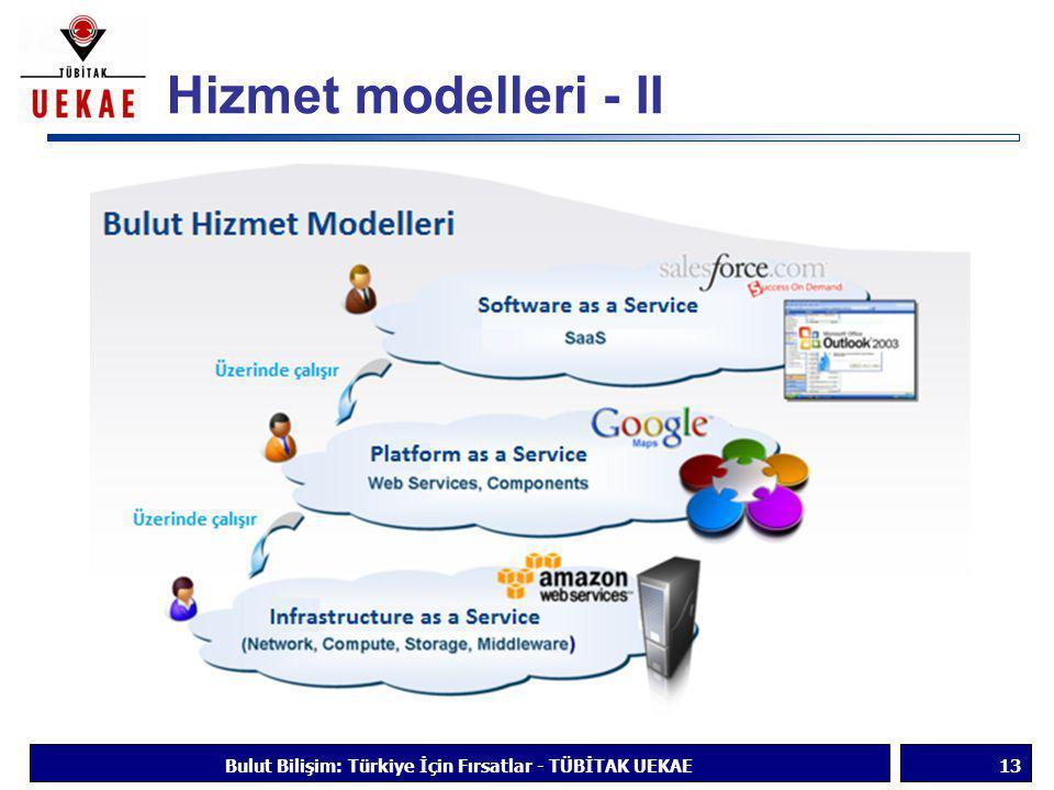 Hizmet modelleri - II Bulut Bilişim: Türkiye İçin Fırsatlar - TÜBİTAK UEKAE13