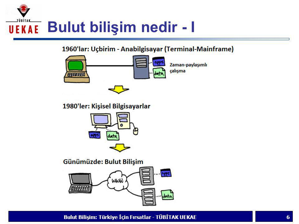 Bulut bilişim nedir - I Bulut Bilişim: Türkiye İçin Fırsatlar - TÜBİTAK UEKAE6