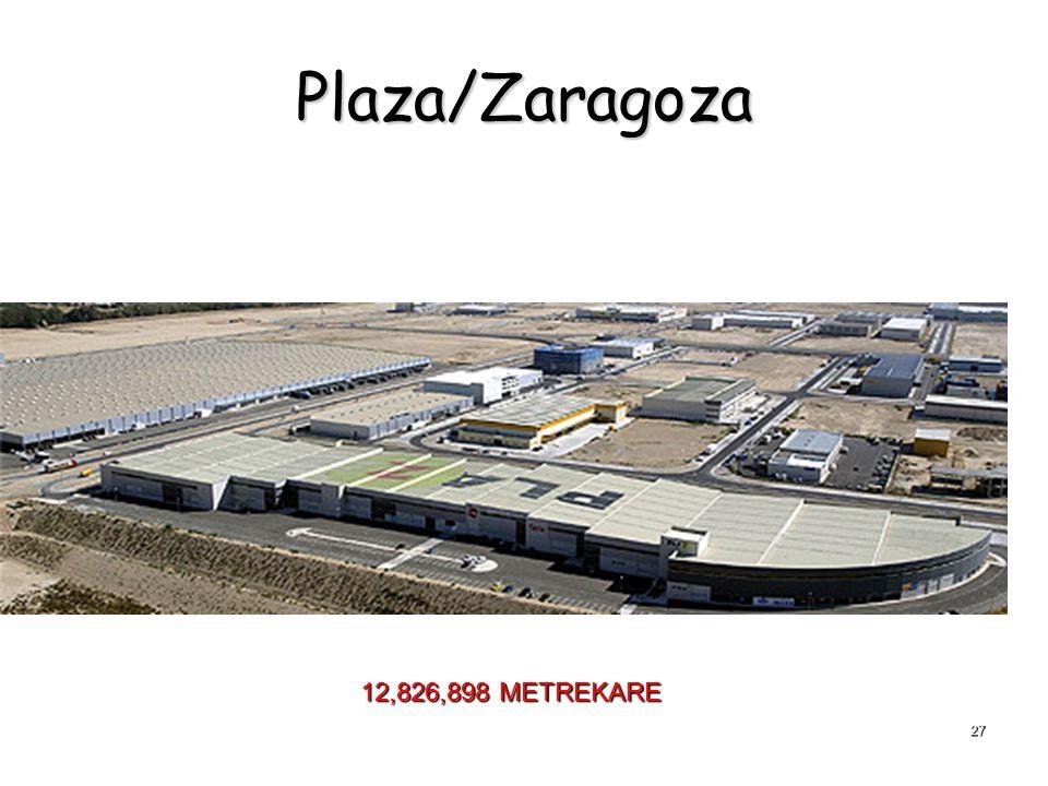 27 Plaza/Zaragoza 12,826,898 METREKARE