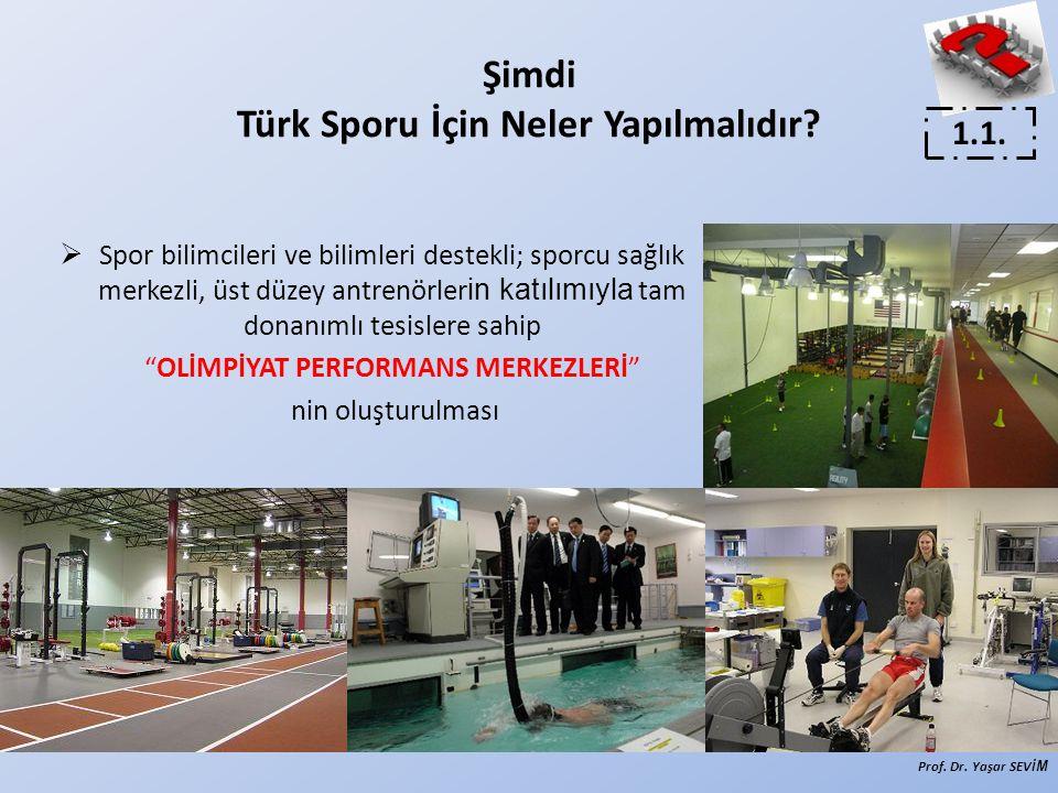 Şimdi Türk Sporu İçin Neler Yapılmalıdır?  Spor bilimcileri ve bilimleri destekli; sporcu sağlık merkezli, üst düzey antrenörler in katılımıyla tam d