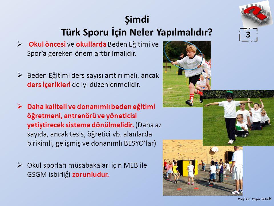  Okul öncesi ve okullarda Beden Eğitimi ve Spor'a gereken önem arttırılmalıdır.