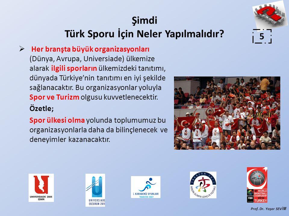  Her branşta büyük organizasyonları (Dünya, Avrupa, Universiade) ülkemize alarak ilgili sporların ülkemizdeki tanıtımı, dünyada Türkiye'nin tanıtımı en iyi şekilde sağlanacaktır.