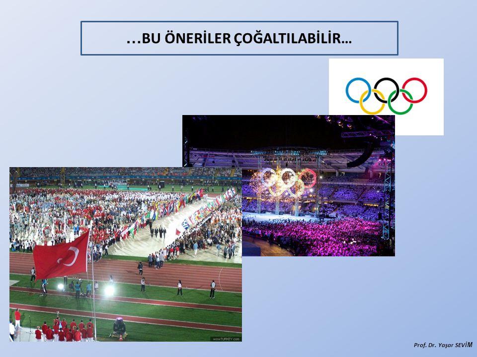 … BU ÖNERİLER ÇOĞALTILABİLİR… Prof. Dr. Yaşar SEVİ M