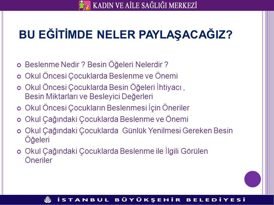 BESİN ÖĞELERİ 1.PROTEİNLER 2. VİTAMİNLER VE MİNARELLER 3.