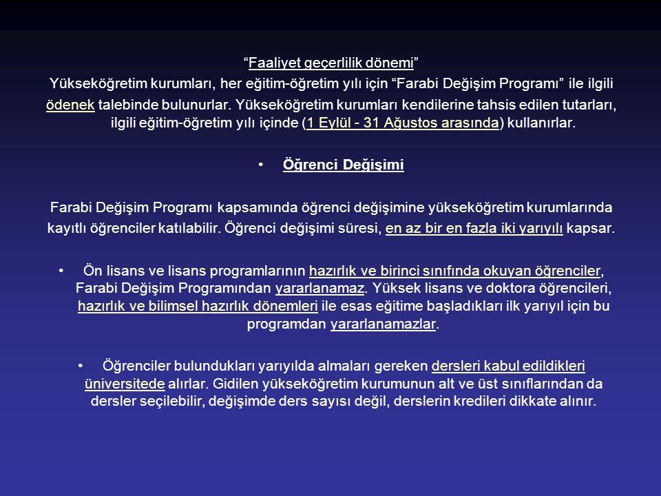 Farabi Değişim Programı (Koordinasyon) •Komisyon •Prof.