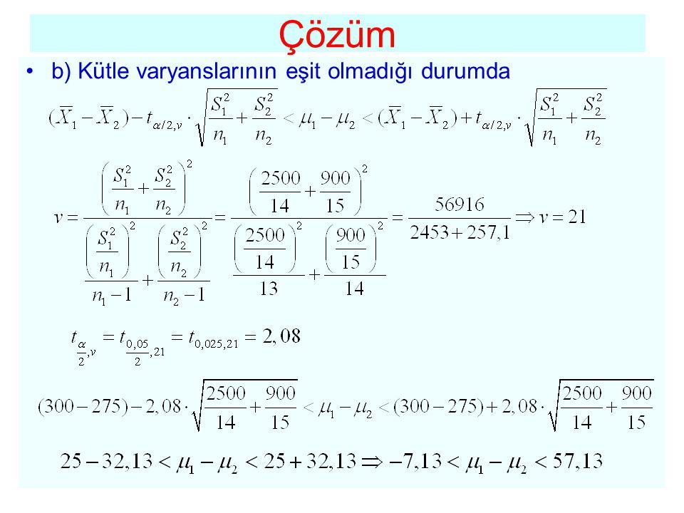 •Bilindiği gibi aynı birimler üzerinde yapılan iki ölçüm çiftine eşlenik örnek adı verilmektedir.