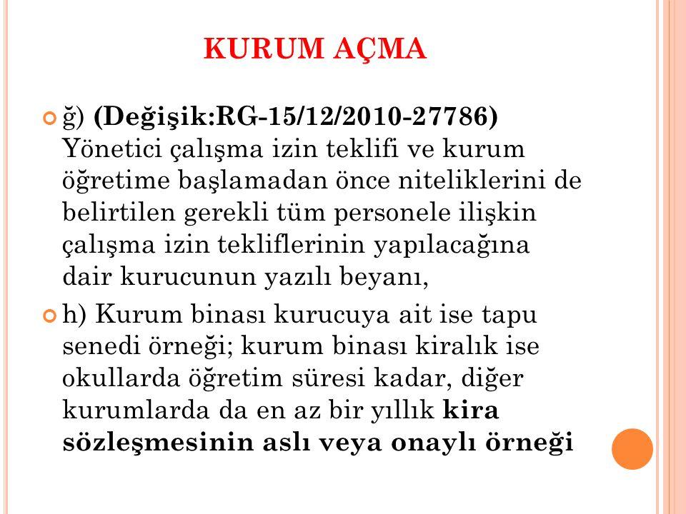 (17/02/2011 tarih ve 1242 sayılı Makam Oluru) (3)Derslik kapıları koridora doğru açılmalıdır.