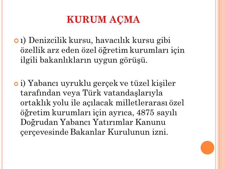 YABANCILARIN AÇTIĞI OKULLARIN TAŞINMAZLARI (2) Yabancı okulların taşınmaz malları ve kuruculuğu, kurucularının veya yetkililerinin önerisi ile Bakanlığa ya da kuruluş amaçları eğitim vermek olan 4721 sayılı Türk Medenî Kanununa göre kurulan vakıflara, Bakanlar Kurulunun izni ile devredilebilir.