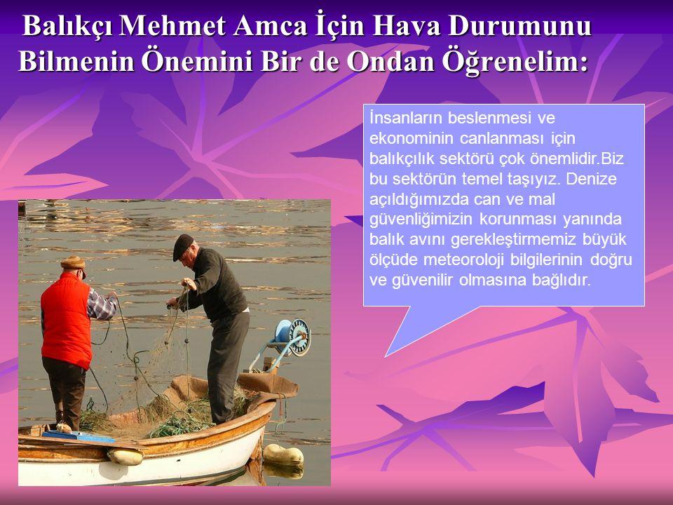 Balıkçı Mehmet Amca İçin Hava Durumunu Bilmenin Önemini Bir de Ondan Öğrenelim: Balıkçı Mehmet Amca İçin Hava Durumunu Bilmenin Önemini Bir de Ondan Ö