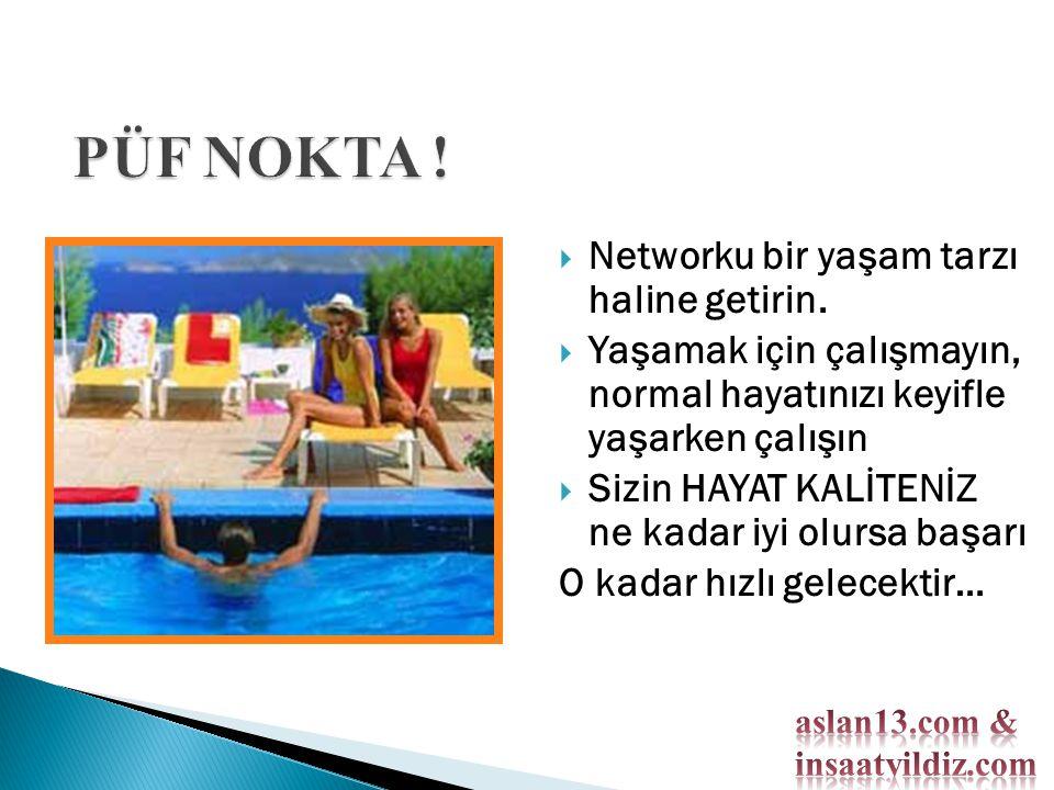  Networku bir yaşam tarzı haline getirin.