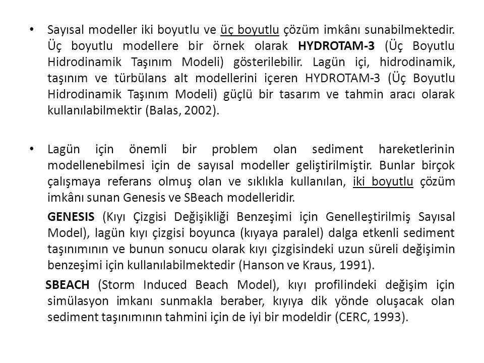 • Sayısal modeller iki boyutlu ve üç boyutlu çözüm imkânı sunabilmektedir.