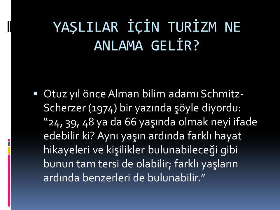Yapılan bir araştırmada;  Deneklerin %38'i engelli ve yaşlılara, hiçbir durumda Türkiye'de tatil yapmalarını tavsiye etmeyeceklerini belirtti.