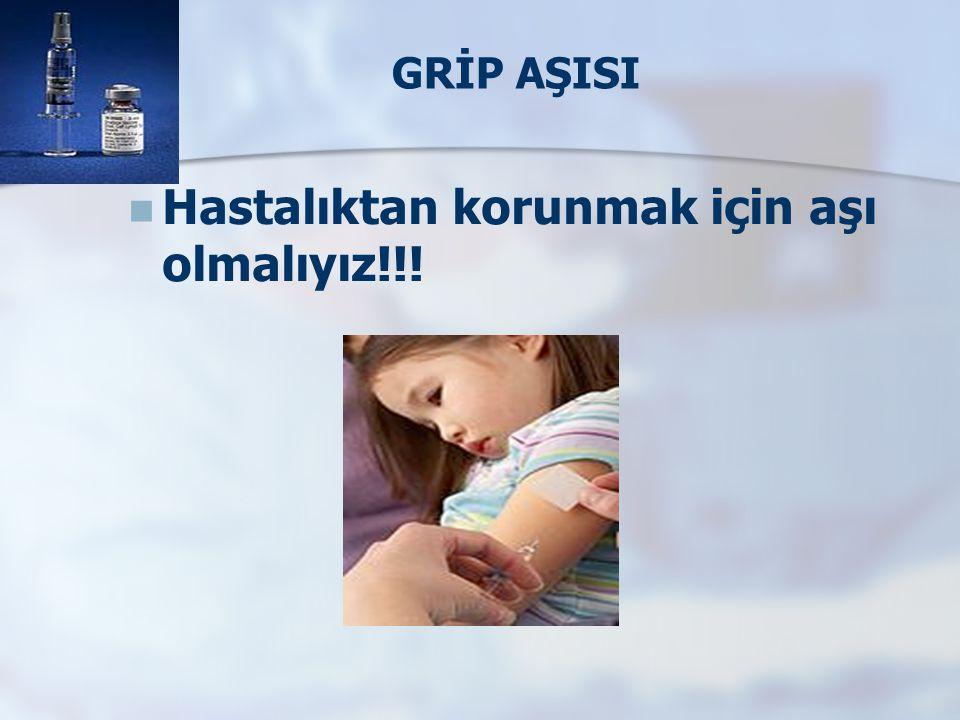 GRİP AŞISI   Hastalıktan korunmak için aşı olmalıyız!!!