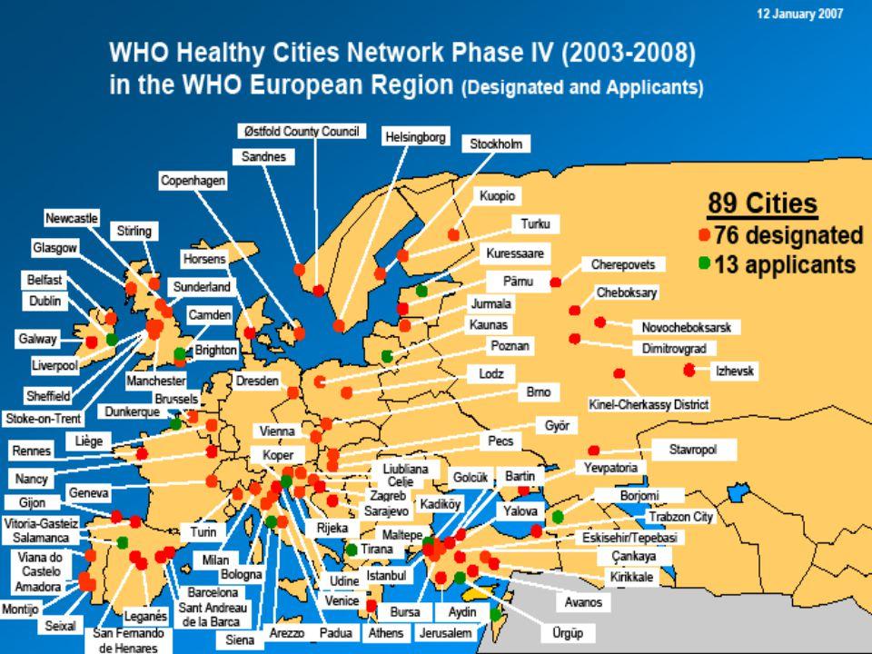 Şehir Sağlığı Gelişim Planı •Sağlık 21 HEDEF VE STRATEJİLERİ İLE UYUMLU –Eşitlik –Sağlığın geliştirilmesi –Sektörler arası işbirliği –Toplum katılımı –Destekleyici çevreler –Güvenilirlik –Huzur hakkı