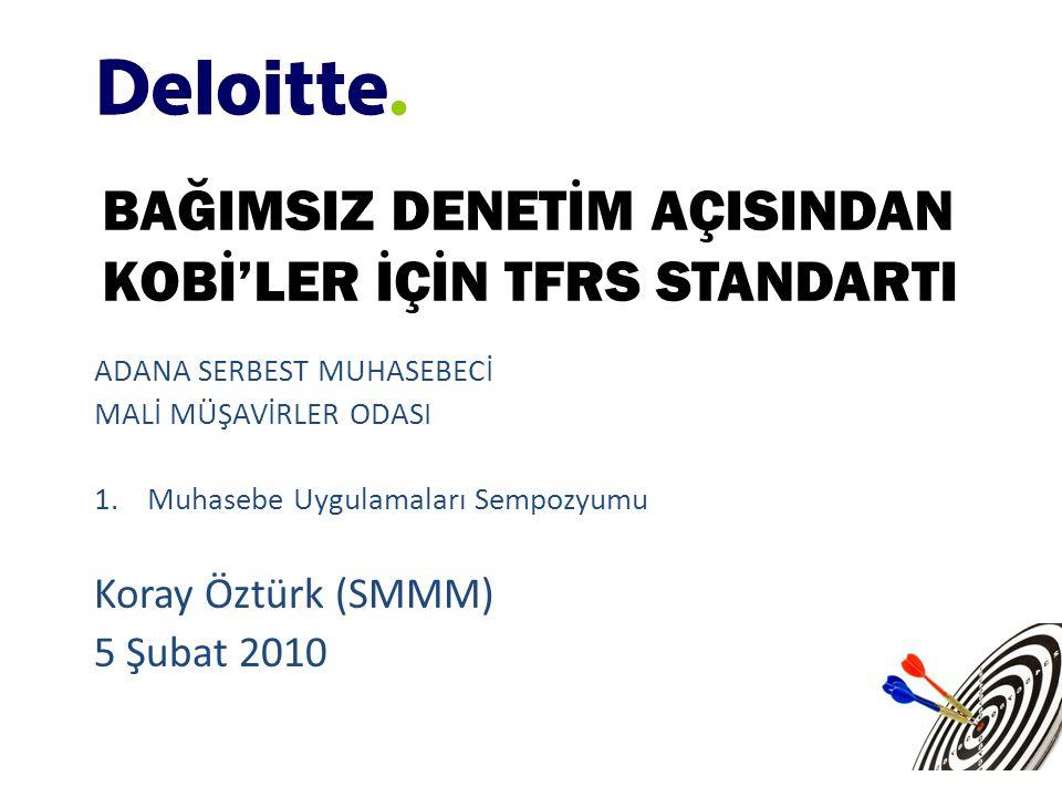 • Hali hazırda TMSK bünyesinde kurulmuş olan çalışma komisyonları KOBİ'ler için UFRS standartlarına uyumlu standartların hazırlanması çalışmalarını uluslararası gelişmelere paralel olarak sürdürmektedir.