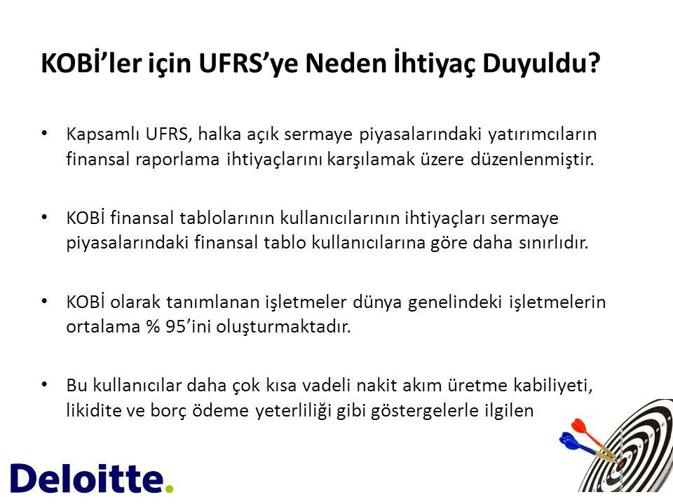 KOBİ'ler için UFRS'ye Neden İhtiyaç Duyuldu? • Kapsamlı UFRS, halka açık sermaye piyasalarındaki yatırımcıların finansal raporlama ihtiyaçlarını karşı