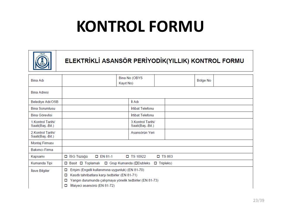 KONTROL FORMU 23/39