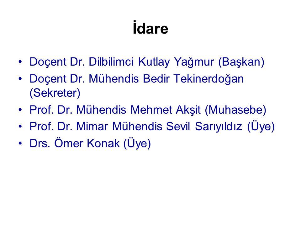 İdare •Doçent Dr.Dilbilimci Kutlay Yağmur (Başkan) •Doçent Dr.