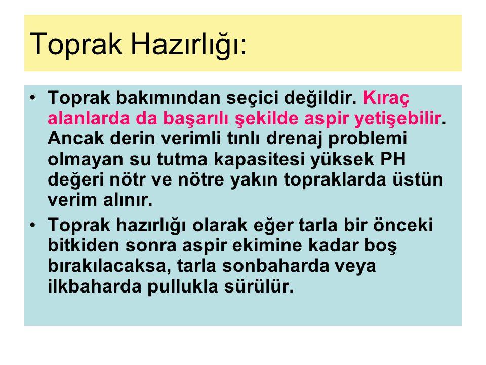 •Çıkış sonrası yabancı otların üzerine Stomp maddeli herbisit kullanılabilir.