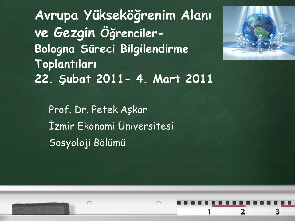 Avrupa Yükseköğrenim Alanı ve Gezgin Öğrenciler- Bologna Süreci Bilgilendirme Toplantıları 22.
