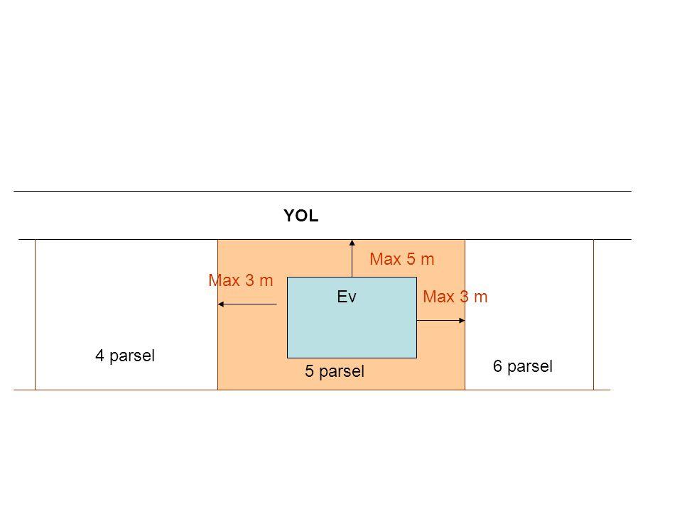 YOL Ev 6 parsel 4 parsel Max 5 m 5 parsel Max 3 m