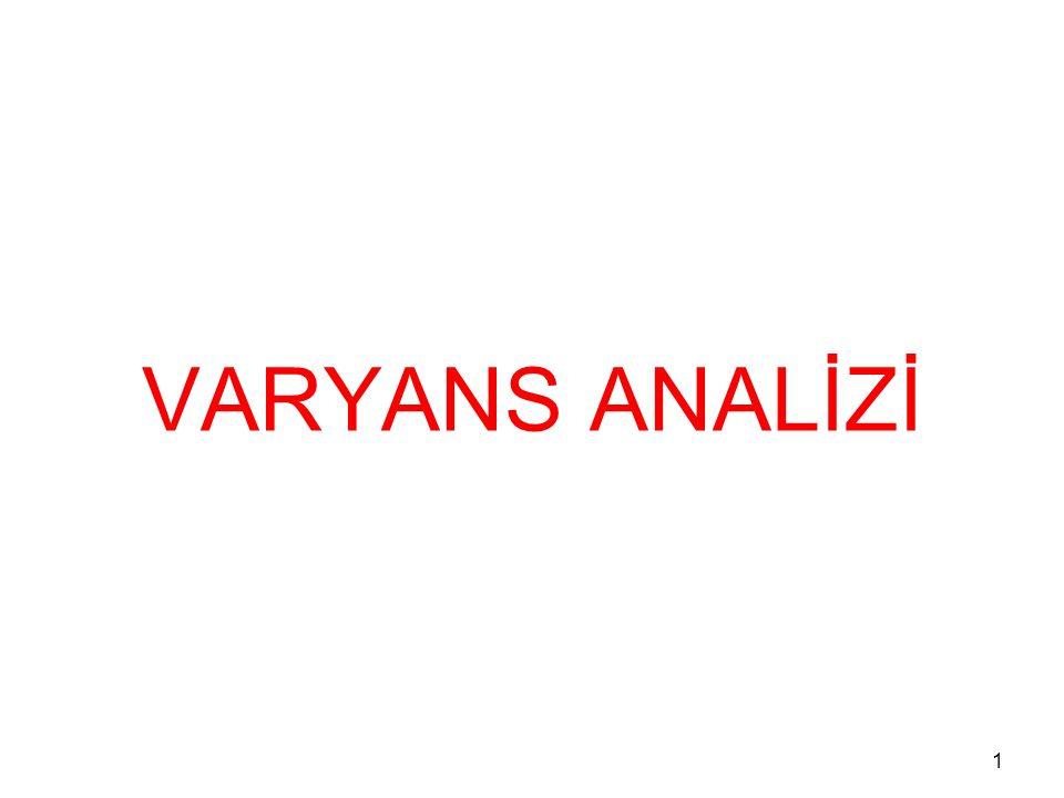 1 VARYANS ANALİZİ