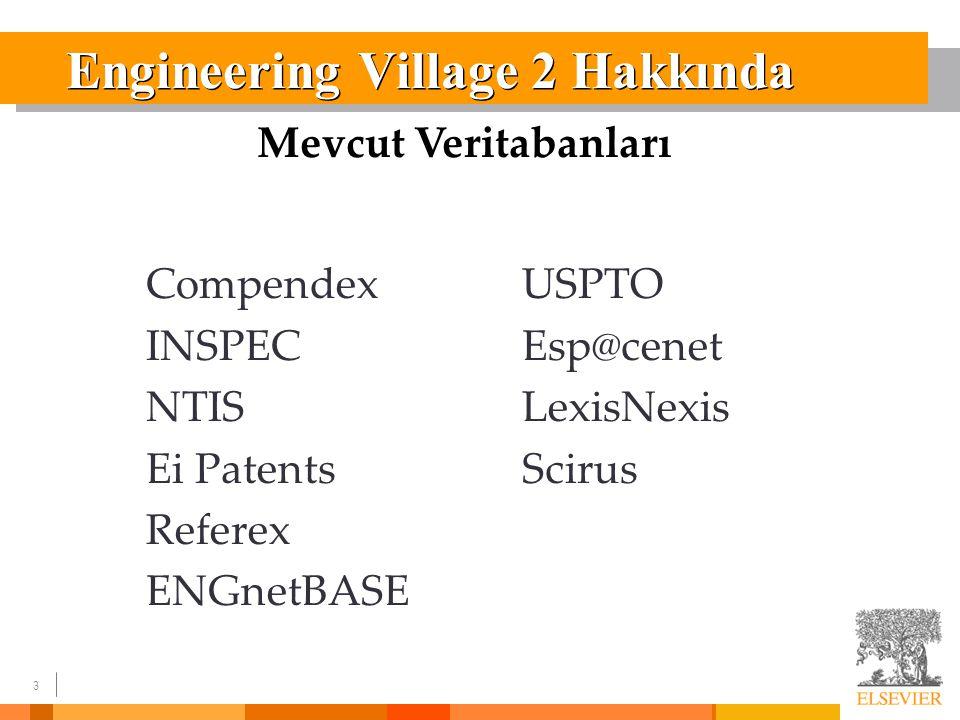 24 Engineering Village 2'den RSS Beslemesi